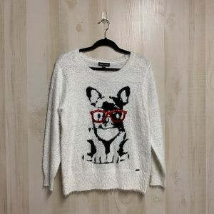NWT Black Rivet French Bulldog Wooly Sweater S Med